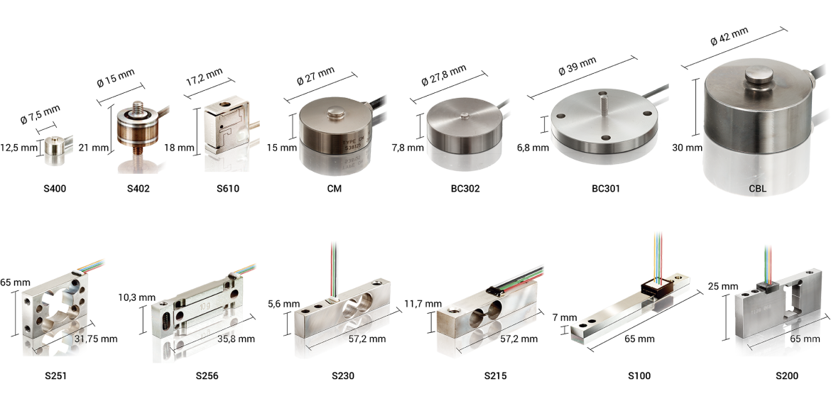 Miniature and subminiature force sensors with precision - X-SENSORS GmbH